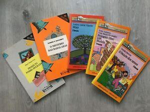 Lote de 5 x libros en galego literatura xuvenil juvenil en gallego años 80
