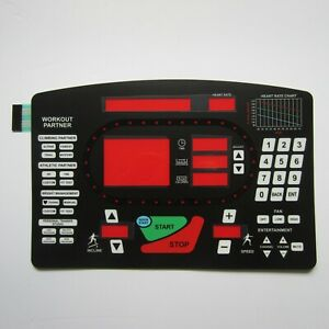Star Trac 5600 Treadmill Replacement Overlay / Keypad