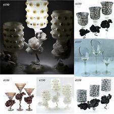Glass Candle Holders Candelabra Lantern Wedding Halloween Dining Home Decor