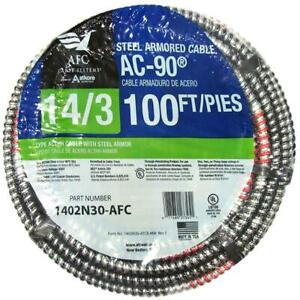 14/3 x 100 ft. BX/AC-90 Solid Cable by AFC Cable Systems