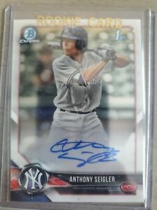 2018 Bowman Chrome Draft Anthony Seigler RC Rookie Auto Autograph