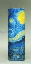 VAN GOGH STARRY NIGHT Ceramic Cylinder MUSEUM VASE Dutch Artist