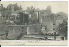 CPA-60 Postcard - CREIL - Houses burned by the Germans