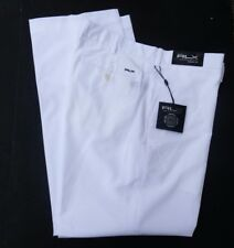 $98 NEW men's RALPH LAUREN GOLF white flat front pants slacks 32 x 32