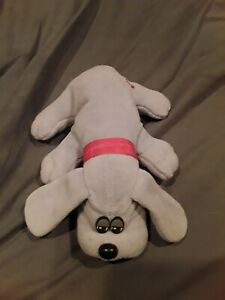 "VINTAGE TONKA Pound Puppies GRAY PUPPY DOG 8"" Plush STUFFED ANIMAL Toy 1985"