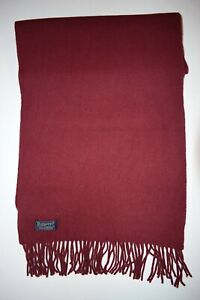 GENUINE BURBERRY BURBERRY'S SCARF MAROON 100%LAMBSWOOL SOLID PLAIN VINTAGE SCARF