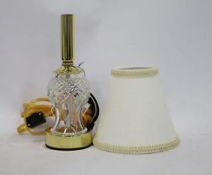 """Waterford Crystal Sullivan 13"""" Accent Lamp w/ Cotton Shade NEW IN BOX"""