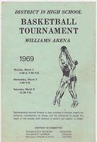 1969 MINNESOTA HIGH SCHOOL BASKETBALL TOURNAMENT program WILLIAMS AREA