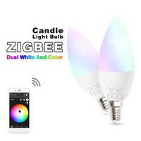 Eg _ 5W E14 6000K RGB LED Dimmable Lampe Bougie Wifi App Contrôle Smart Ampoule