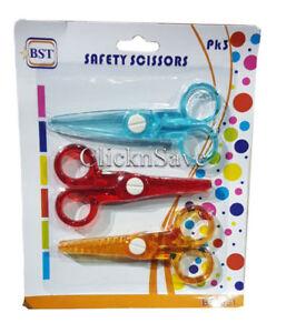 3pcs Children Safety Scissors Kids Craft Art Creative Safe Child School