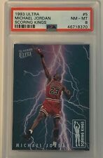 1993 Ultra Michael Jordan Scoring Kings Insert #5 PSA 8 - RARE - TOUGH GRADE