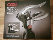New listing Oggi Executive Wine Bottle Corkscrew Set with Stand New (T004K)