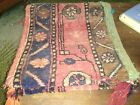 """28"""" x 12"""" Antique Tribal Textile AFSHAAR  Wool Rug Double Saddle Bag  Aged"""