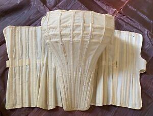 Antique Ladies Boned Corset 'Adjustable Bust Former' Vintage Bustier 38B H&W Co.