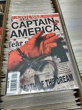 MARVEL Civil War Epilogue Captain America Death of Dream #25 Unread Condition