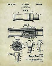 "Duck Hunting Antique Calls US Patent Poster Art Print 11""x14"" Decoys PAT25"