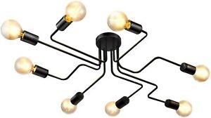 4/8 Head Vintage Pendant Ceiling Light Industrial Chandelier Lamp Kitchen/Home