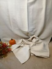 More details for vintage french linen bed cover handwoven upholstery minimalist bedspread / a21