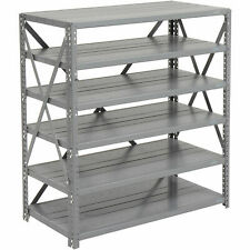 Open Style Steel Shelf With 6 Shelves 36wx18dx39h