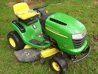 John Deere L111 hydro riding lawn mower tractor 42 deck