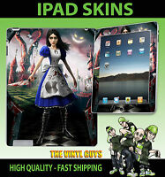 Apple Ipad 2 , 3 ,3G, 4G Wifi Adhesivo de Vinilo Alice Locura Returns