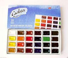 LADOGA ARTISTS WATERCOLOURS PAINT SET 24 colors Russian Nevskaya palitra
