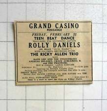 1964 Grand Casino Penzance, Rolly Daniels, Ricky Alan Trio Dave Lee & The Stagge