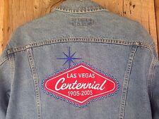 RARE Las Vegas Centennial Patch Jacket 2005 Lee Denim Jean Jacket Men's Size L