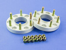 """25MM (1"""")   Silver Hubcentric Wheel Spacers   Dodge 6x114   71.5   1/2"""" UNF"""