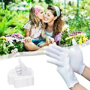 12 Pairs White Cotton Soft Gloves , Jewelry Inspection Gloves. Work J2V6