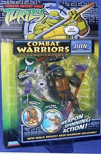 "Teenage Mutant Ninja Turtles 5"" Combat Warriors Don Donatello New 2005 playmate"