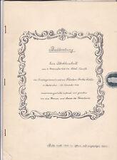 Ballzeitung 1936 Hotel Hauffe Leipzig Abschlussball Tanzsstunde Dokument Druck