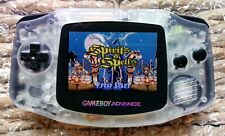 Nintendo Game Boy Advance GBA Clear AGS-101 BRIGHT BACKLIT + LITHIUM BATTERY!