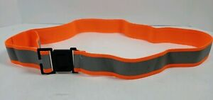 Lot of 10 Orange Reflective Running Belt Sash Band Elastic Biking Safety Jogging