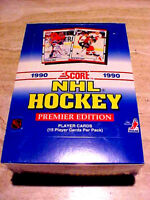 1990-91 Score Hockey (American) Wax Box ~ RCs OF BRODUER, JAGR, LlNDROS & MORE!