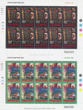 EUROPA CEPT 2003 PLAKAT POSTER - ALBANIEN ALBANIA 2928-29 KLEINBOGEN **