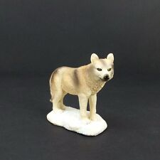 """Small Wolf in the Snow Figurine 3"""" Tall Wild Animal Collectible Statue C"""