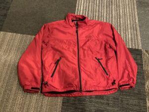 Vintage Ralph Lauren Polo Sport Red Nylon Fleece Lined Jacket Medium