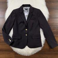 J. Crew Mercantile Women's Size 2 Black Two Button Schoolboy Blazer Jacket