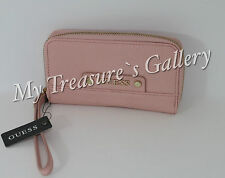NEW Guess Gretchen SLG Small Zip Around Wallet Checkbook Clutch Blush NWT