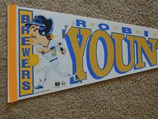 1992 Robin Yount Milwaukee Brewers Full Size 30 Inch Character Pennant