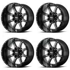 20x10 Moto Metal MO970 6x135/6x139.7/6x5.5 -24 Gray Black Lip Wheel Rim set(4)