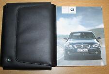 BMW SERIE 5 E60 E61 Saloon Touring MANUALE MANUALE Wallet Navi 2007-2010 8700