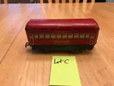 Marx O Train TinLitho Tinplate Red Montclair Pullman 4 Wheel Passenger Car Lot C