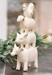 "Primitive/Country Farm Animal Resin Stack Farmhouse 7"""