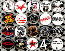 Oi! button x 20 NEW pins badge skinhead street punk boot boy skinbird iron cross