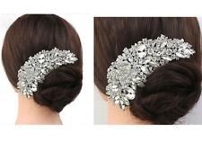Femmes Bijou Peigne À Cheveux Cristal Strass Épingle À Fleur Pour Mariage