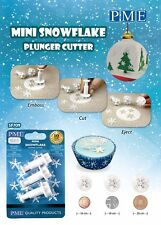 PME Mini Snowflake Plunger Cutters Set of 3 Christmas Sugarcraft Cutters