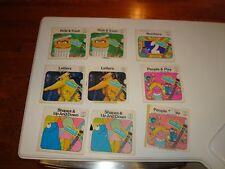 Ultra Rare Qty 5 - Vintage 1970 Sesame Street Books & Records - Rare Find L@@K!!