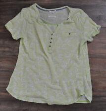 White Stuff Ladies Casual Top T- Shirt Blouse UK 10 100% Linen Green